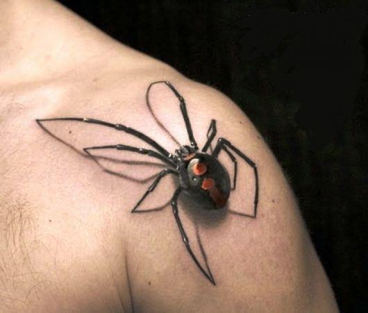 tatuagem 3d aranha