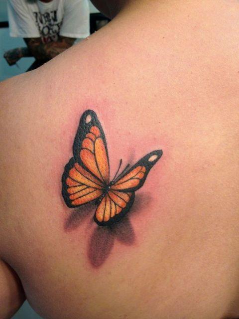 tatuagem 3d borboleta