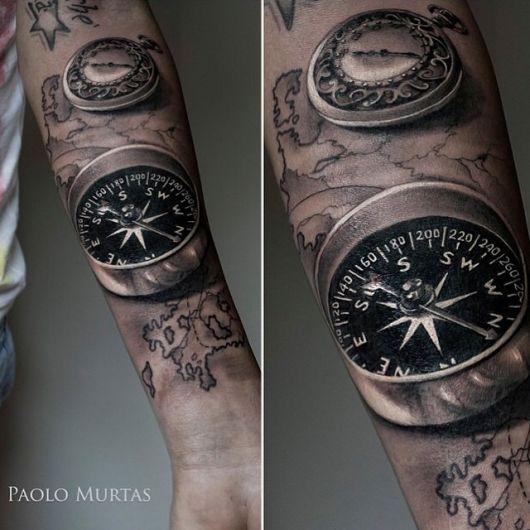 tatuagem 3d no braço