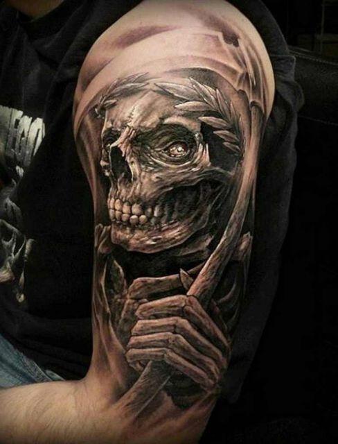 tatuagem 3d caveira