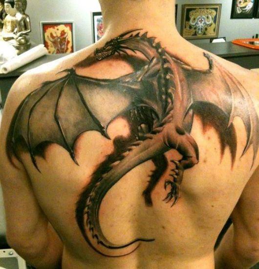 tatuagem 3d dragão