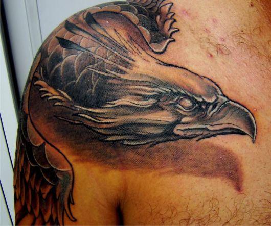 tatuagem 3d fenix
