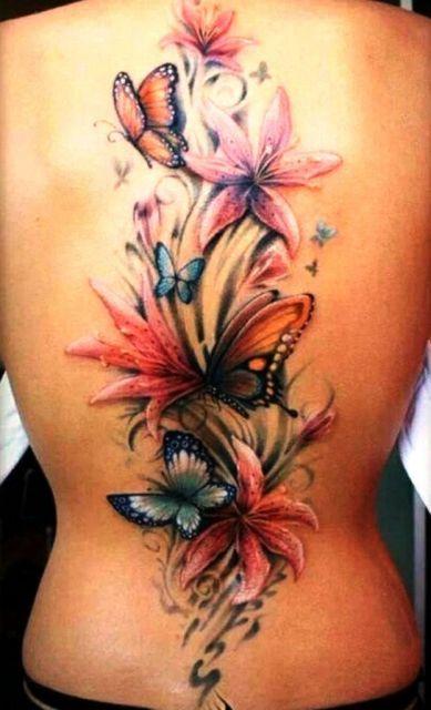 tatuagem 3d flor