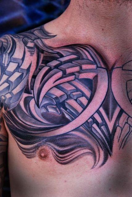 tatuagem 3d tribal