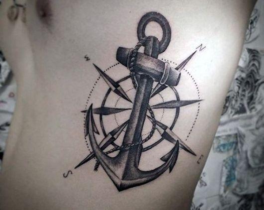 tatuagem de ancora masculina