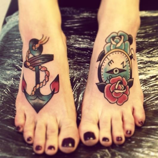 tatuagem de ancora old school