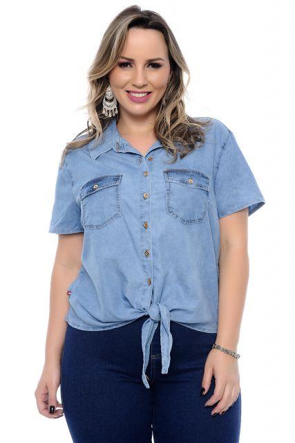 d47594f7b65d97 Camisa Jeans Feminina – Como Usar com 55 Looks Incrivelmente Lindos!