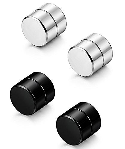 Foto de dois pares diferentes de alargador de pressão, um preto e outro prateado.