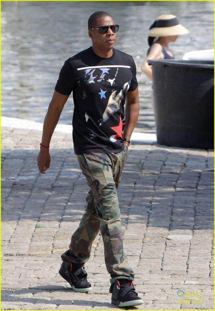calça camuflada Jay Z