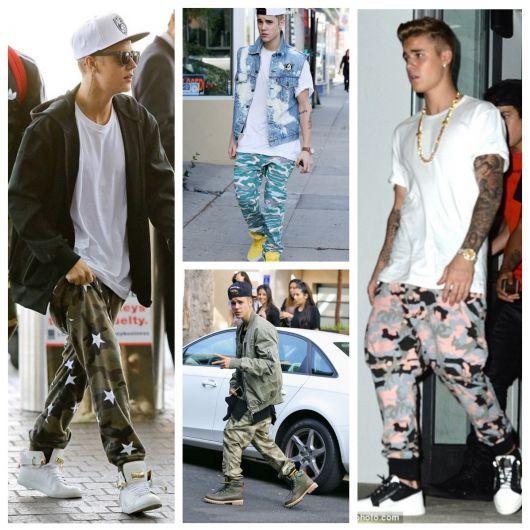calça camuflada masculina famosos