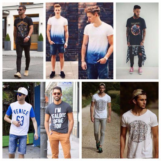 Camiseta Masculina: Marcas famosas, modelos e mais de 100 dicas de looks!