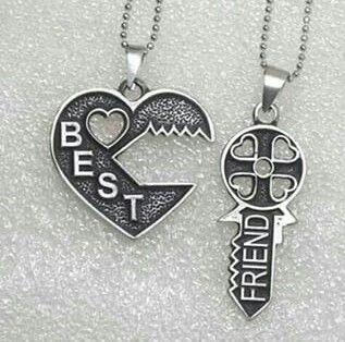 2 peças coração com chave