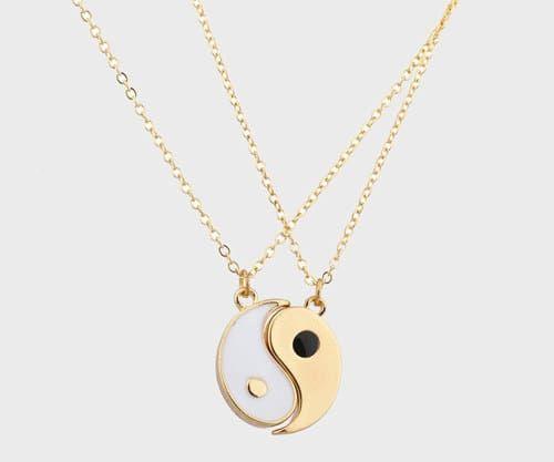 colar moderno Yin Yang
