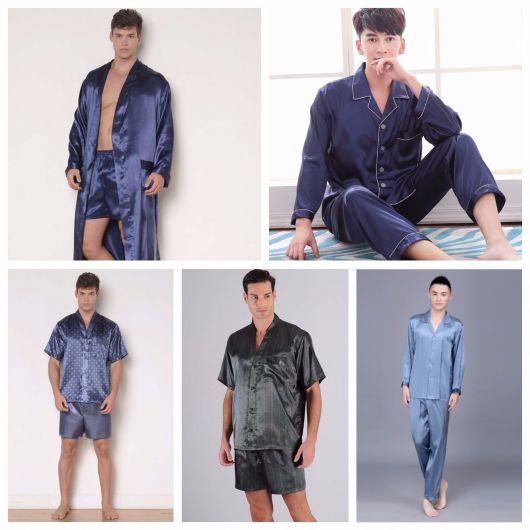 pijama masculino de seda