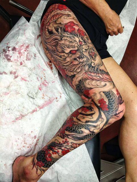 tatuagem de dragão feminina