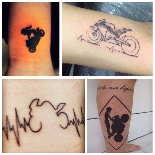 tatuagem de moto feminina