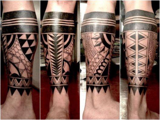 tatuagem tribal na perna