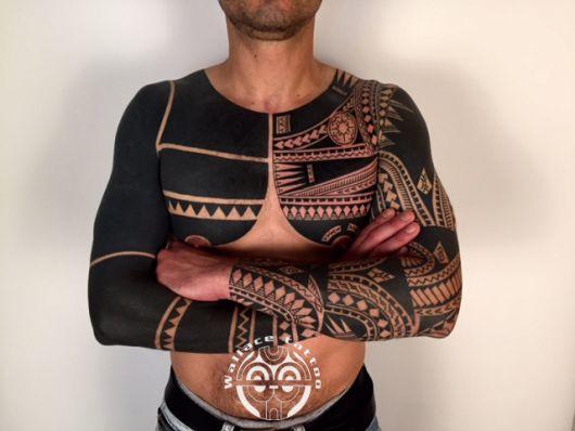 tatuagem tribal sleeve