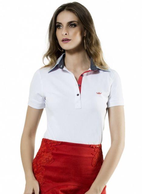 Camiseta Polo Feminina – 50 Looks Incríveis   Dicas de Como Usar! a06bccaf84f0a