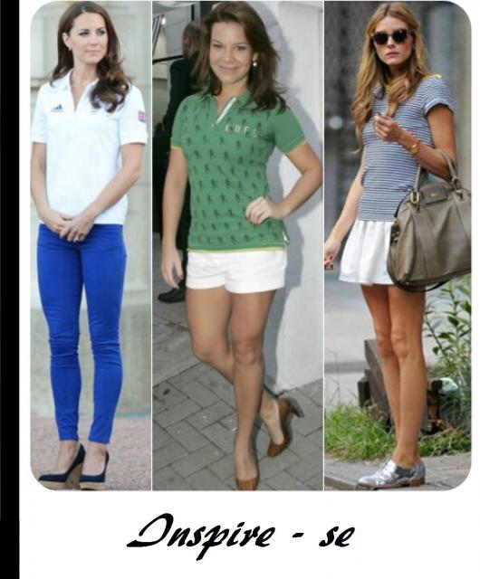 Montagem de fotos com modelos de camiseta polo feminina nas cores verde 540a8f55505da