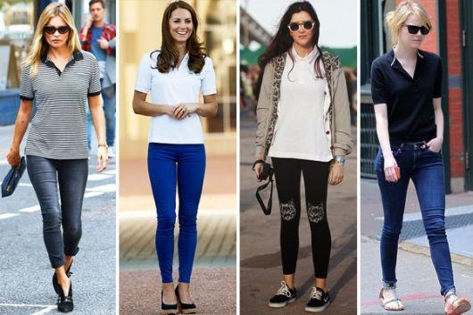 Camiseta Polo Feminina – 50 Looks Incríveis   Dicas de Como Usar! 8444be05229ad