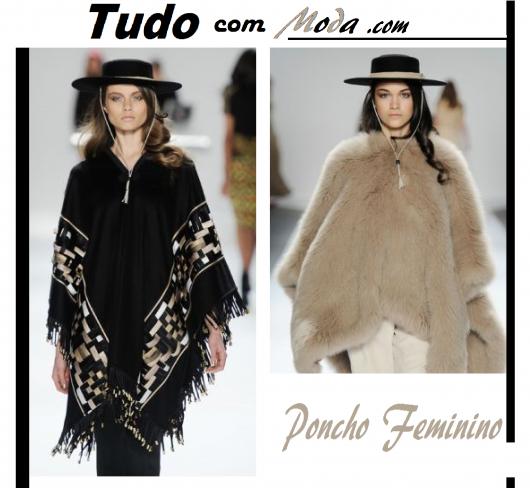 Poncho Feminino – 53 Looks e Modelos Elegantíssimos & Onde Comprar!