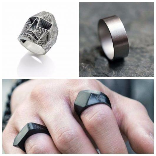 anel masculino moderno