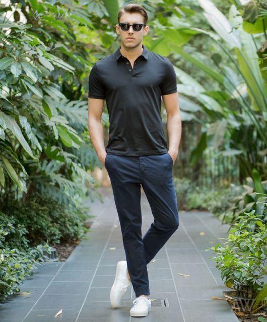 Camiseta Polo Masculina – 85 Modelos 7a2b8b710ba78