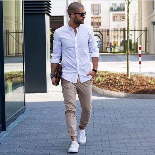 7345c10a49 Camisa Social Masculina – 100 Modelos Espetaculares & Como Usar!