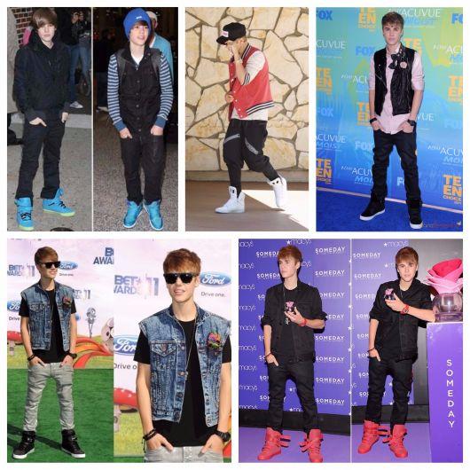 Justin Bieber é um dos grandes adeptos do tênis cano alto