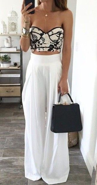 look com pantalona branca