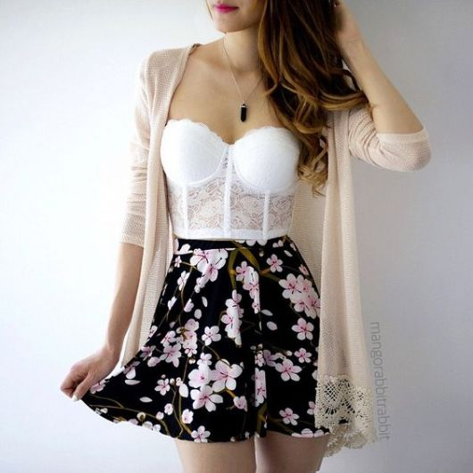 look com saia floral