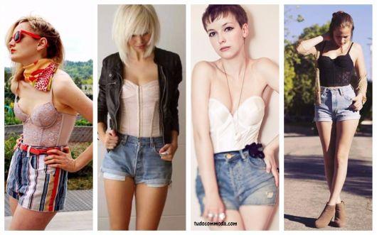 ideias de looks com shorts