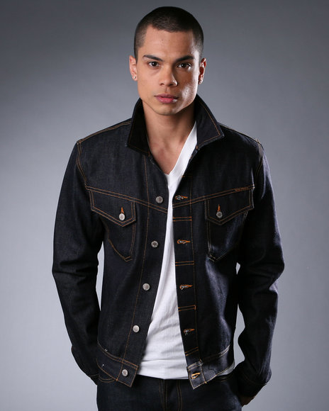 jaqueta jeans masculina escura