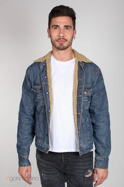 jaqueta jeans masculina forrada