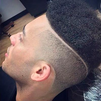 listra no cabelo afro