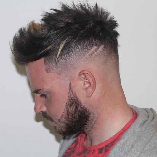 listra no cabelo degrade