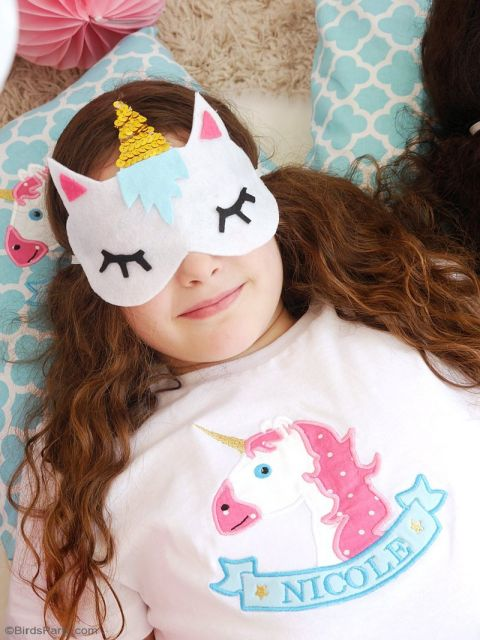 máscara de dormir de feltro