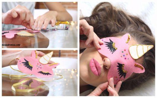 como fazer máscara de dormir