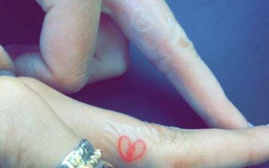 tatuagem coração partido