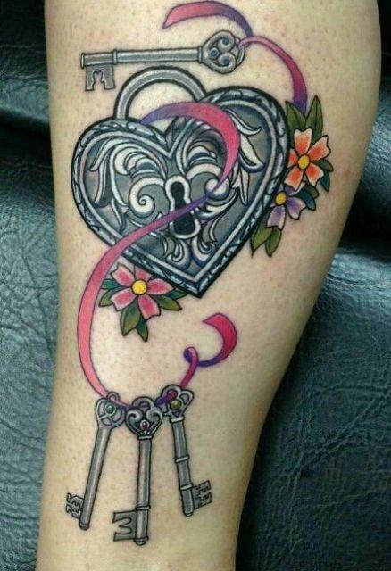 tatuagem cadeado