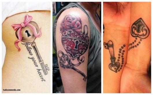 ideias tatuagem coração com fechadura