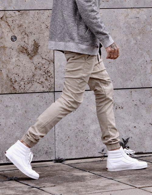tênis cano alto masculino branco