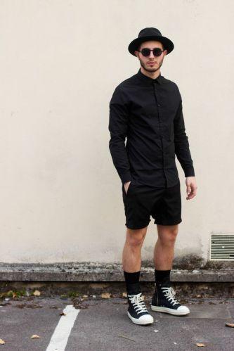 tênis cano alto masculino preto