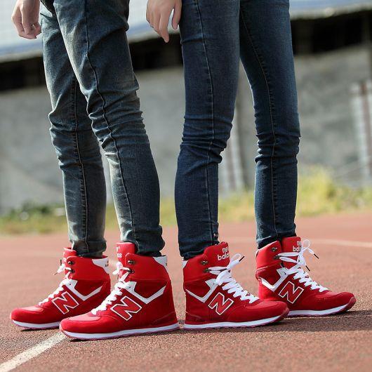 tênis cano alto masculino vermelho