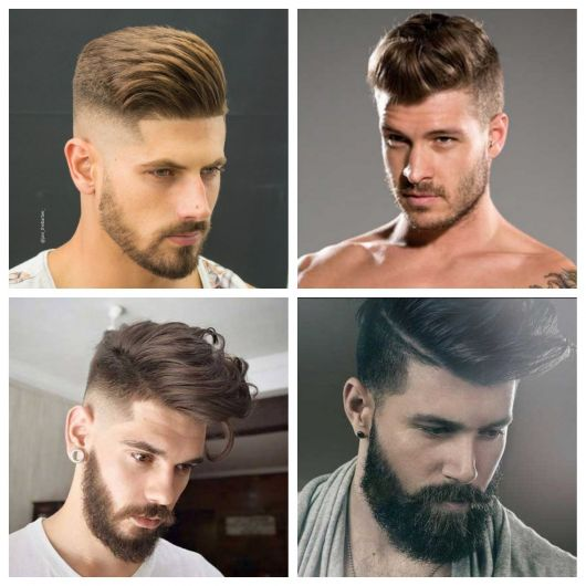 topete masculino cabelo liso