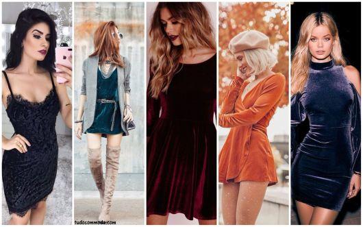 Como Usar Vestido de Veludo Curto – 51 Ideias Lindas & Dicas de Looks!