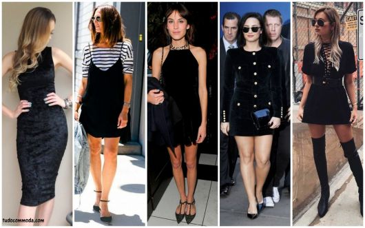 looks com vestido preto