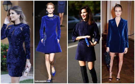 looks com vestido azul