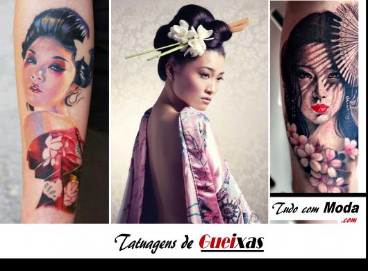 Tatuagem de Gueixa: Veja as 41 +lindas inspirações e + dicas incríveis!